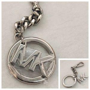 """NWT MICHAEL KORS Silver """"MK"""" Key Charm"""
